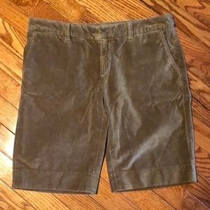 NWOT Gap velour Bermuda shorts
